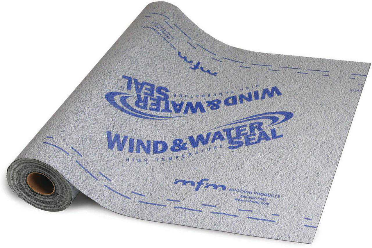 Ultra HT Window and Water Seal 48268 Self-Adhesive Waterproofing Underlayment, 36 in W x 40 mil T