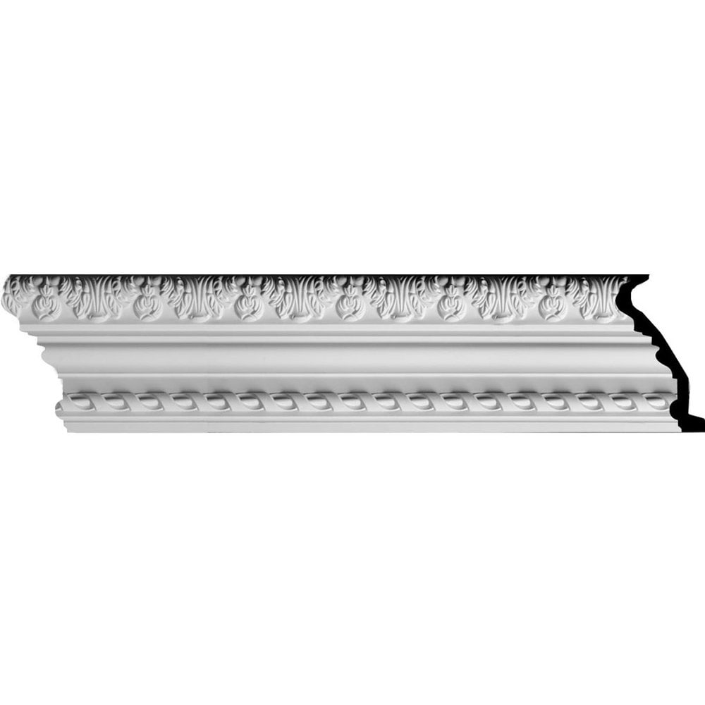 Ekena Millwork Polyurethane Crown Moldings/Loera with Rope Molding 4' Repeat / 5 7/8'H x 2 5/8'P x 6 3/8'F x 96'L