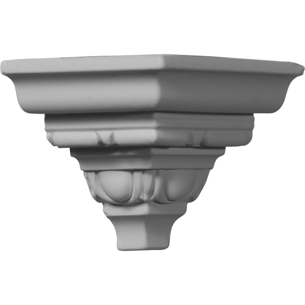 Ekena Millwork Polyurethane Crown Moldings/Outside Corner for Molding MLD03X03X05ST / 3 3/8'P x 3 5/8'H