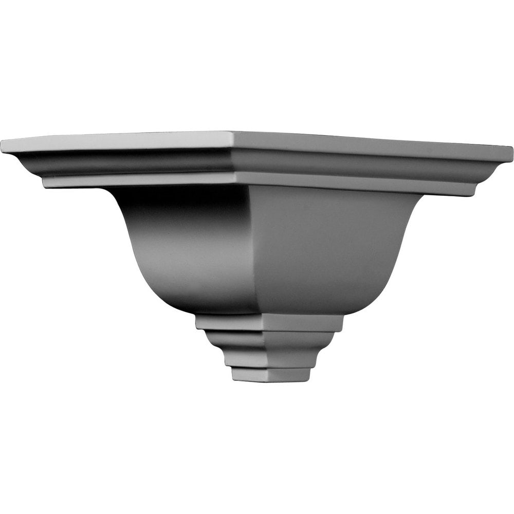 Ekena Millwork Polyurethane Crown Moldings/Outside Corner for Molding MLD05X07X09NI / 7 1/2'P x 5'H