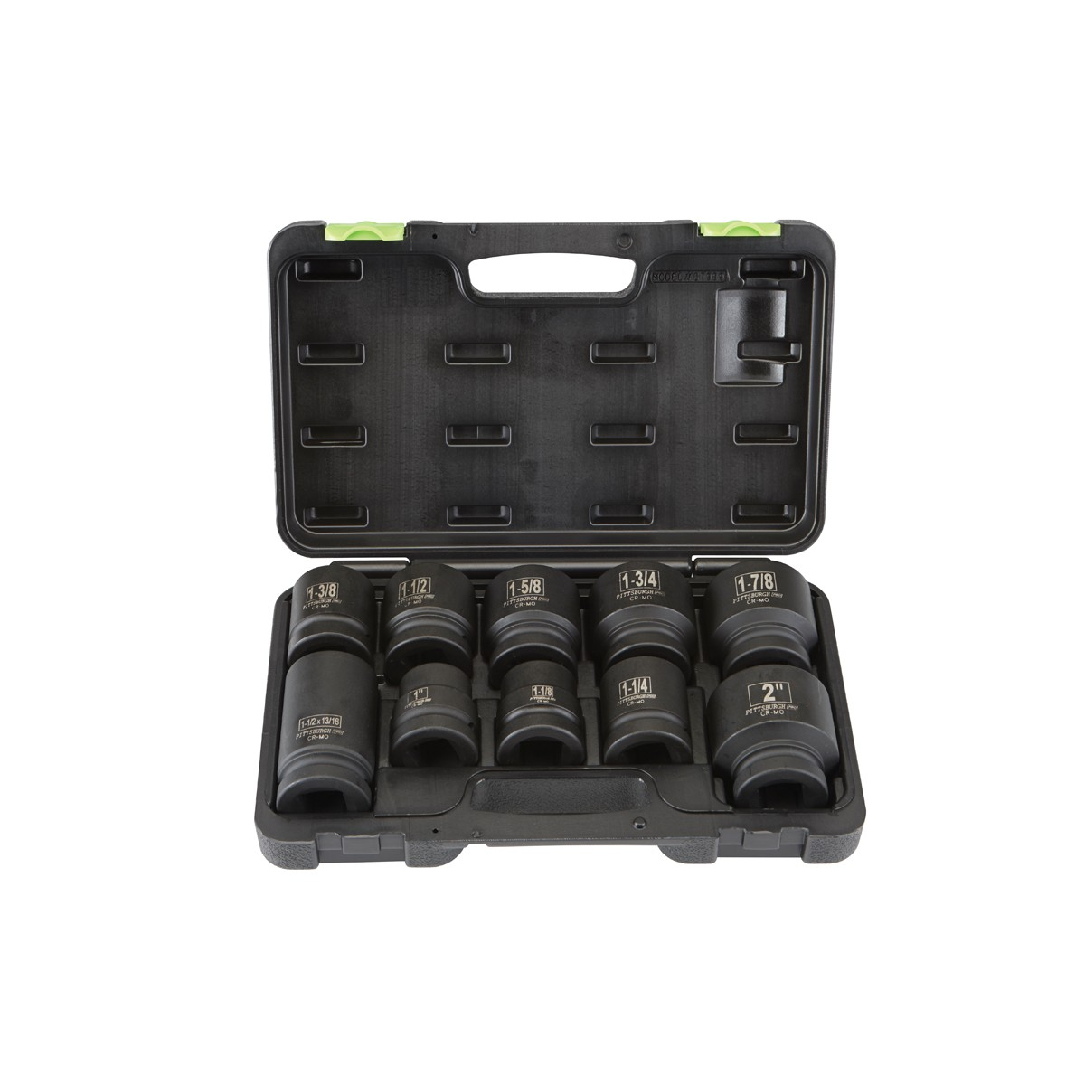 10 Pc 1 in. Drive SAE Impact Socket Set