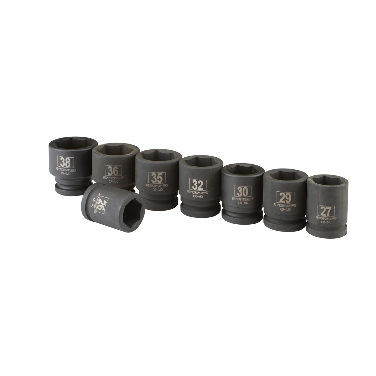 8 Pc 3/4 in. Drive Metric Impact Socket Set