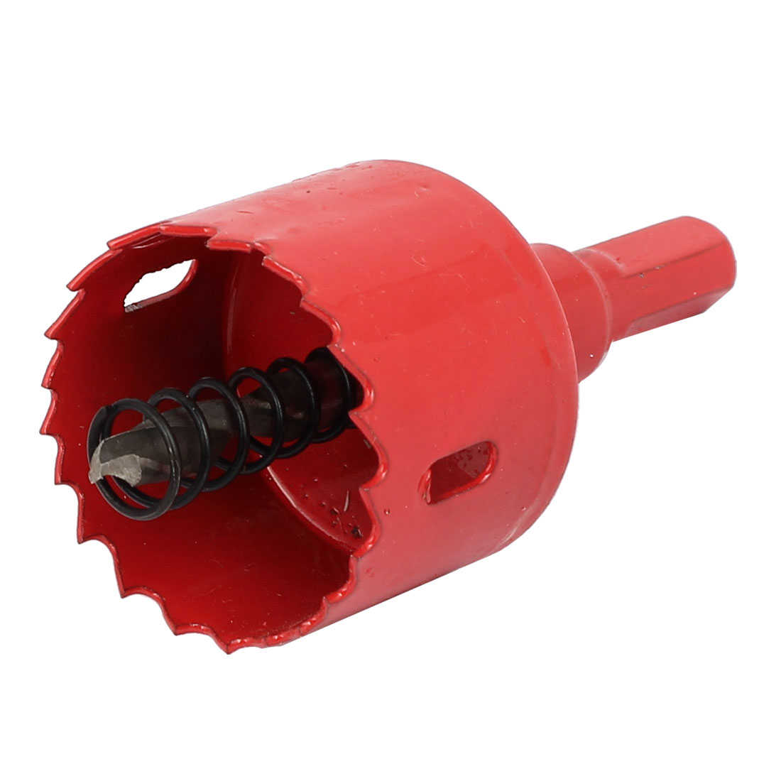 38mm Cutting Dia M42 HSS Spring Loaded Bi-Metal Hole Saw Drilling Tool Red